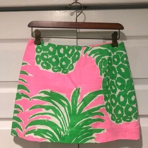 Lilly Pulitzer Pink Pout Flamenco Skirt Size 0
